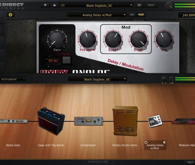Pod Farm Line 6 Pod Studio Gx Usb Computer Recording Interface New Screenshot Analog Delay