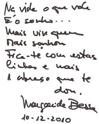 Autografo Margarida Bessa