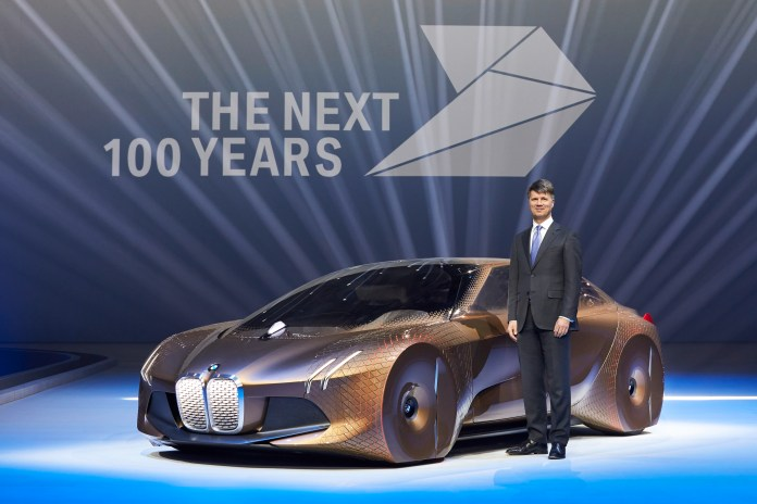 bmw celebrates 100 years with bold new concept car | cleantechnica