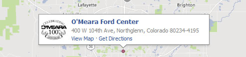 O'meara Ford Center Map
