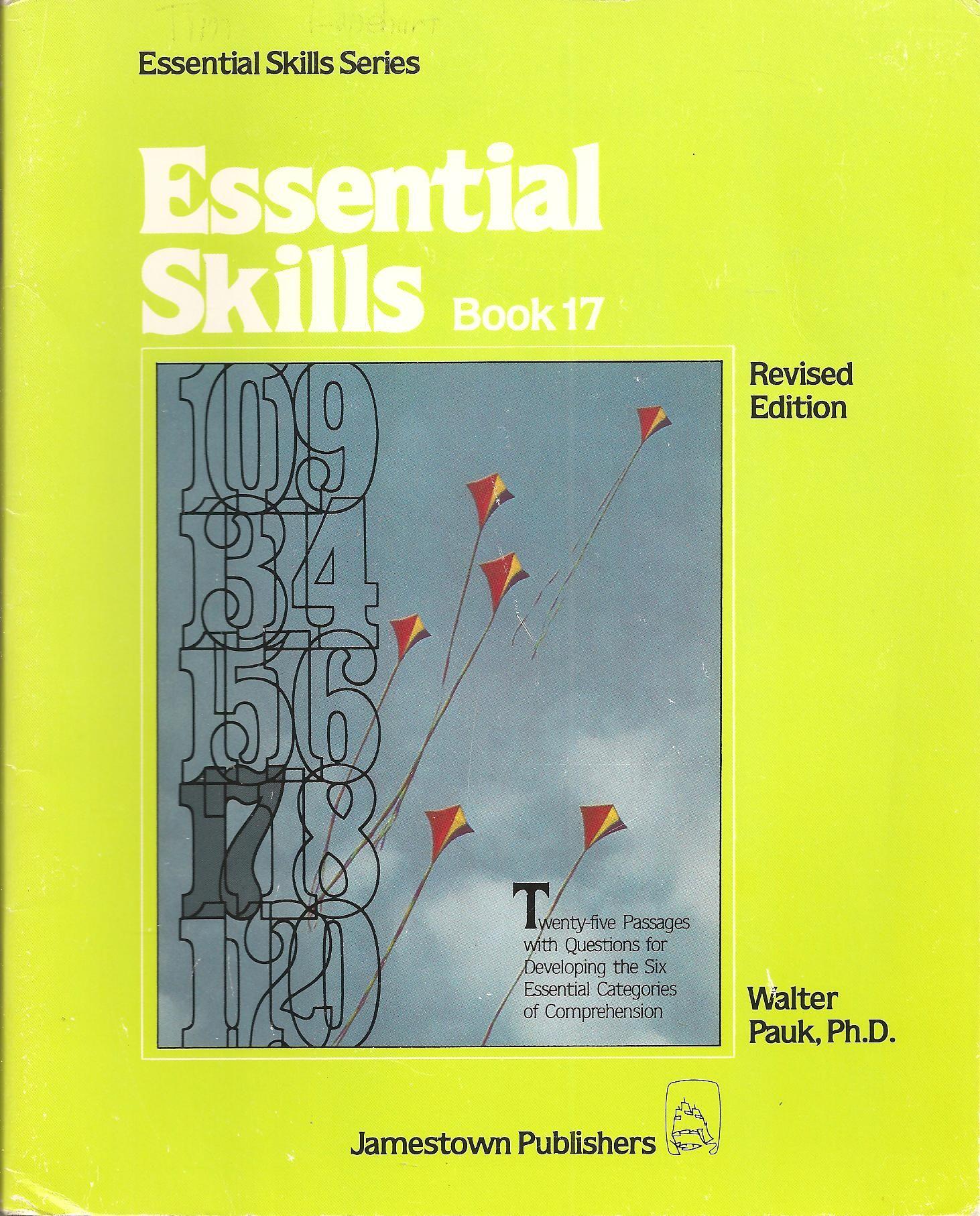 Essential Skills Book 17 Essential Skills Series By Ph D Walter Pauk