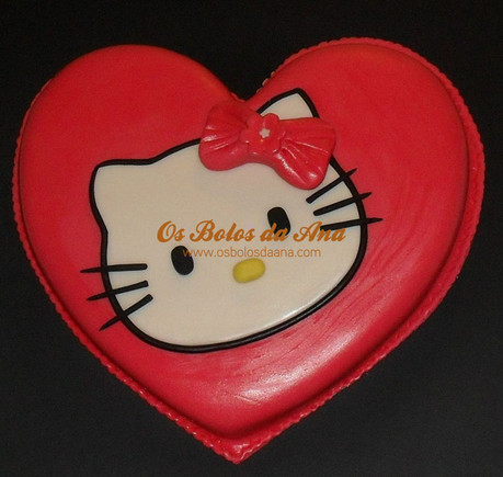 bolo coração hello kitty - hello kitty cake heart