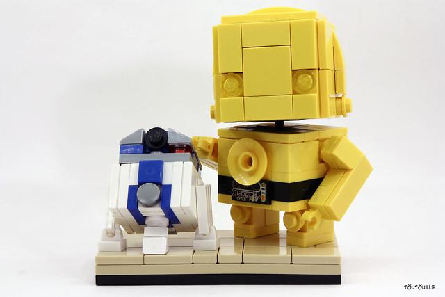 C-3PO & R2D2 + socle
