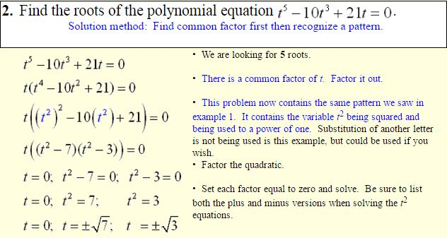 Polynomials of Higher Degree-4