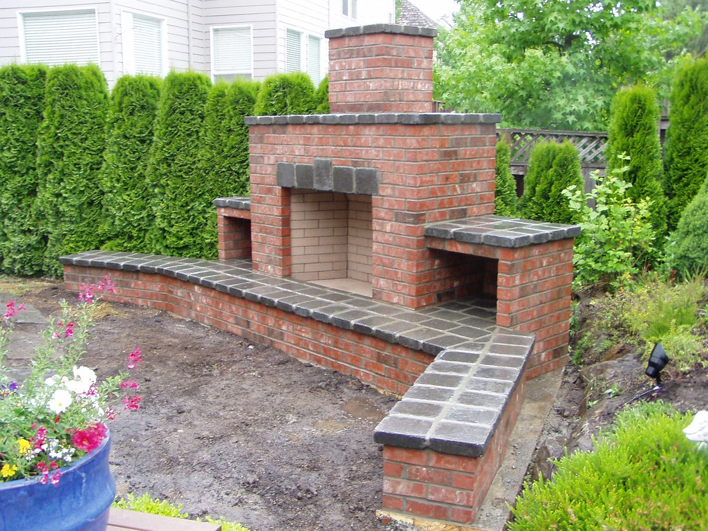 Outdoor Brick Fireplace (Baker Masonry LLC 503 539 6792 ... on Simple Outdoor Brick Fireplace id=36624