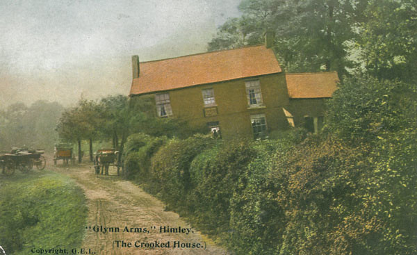 Glyn Arms Pub The Crooked House Himley Post Card M1008