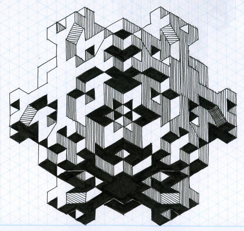 Fun With Isometric Paper 03 Paul Heaston Flickr