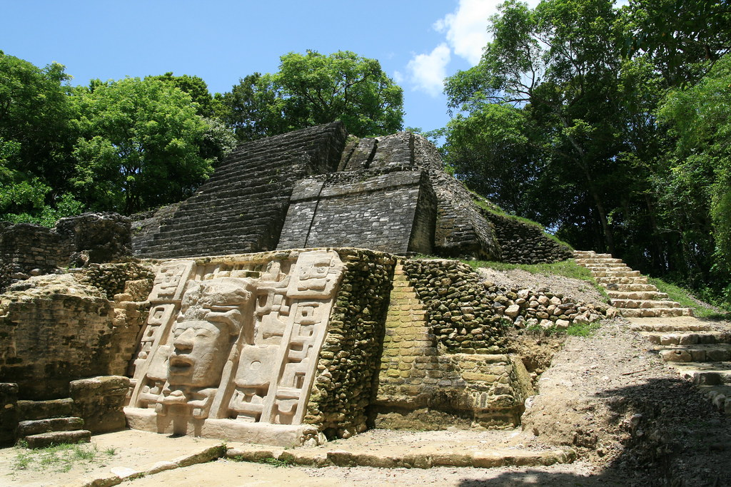 The Mask Temple The Mask Temple At Lamanai In Belize