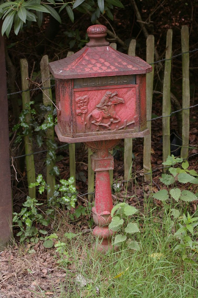 Old letter box farm near romiley stockport uk, old english letter b