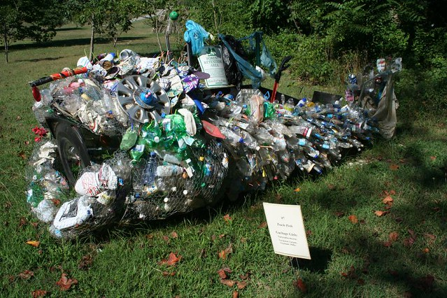 Trash Fish Made Entirely From Trash Pulled From The