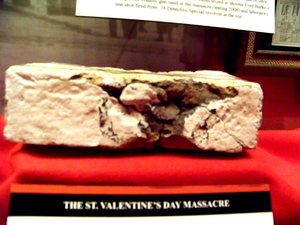Brick From Wall In St Valentines Day Massacre