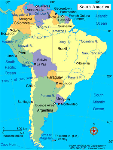 Wonderful South America Is A Continent In The Western Hemisphere, Mostly Below The  Equator. It Consists Of 12 Sovereign Countries, A French Territory (French  Guiana), ...