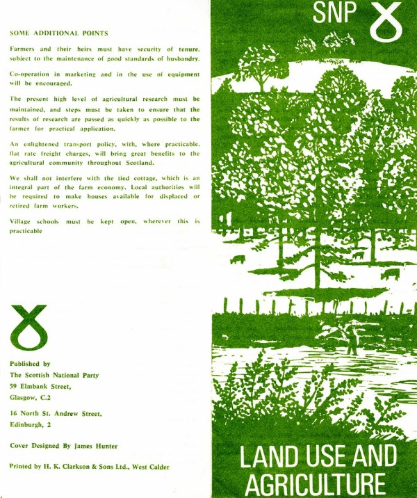 SNP leaflet, Land Use and Agriculture | Accession Number ...