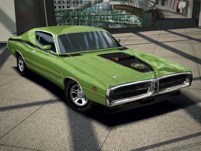 1971 Dodge Charger Super Bee 426 Hemi Digital Vector