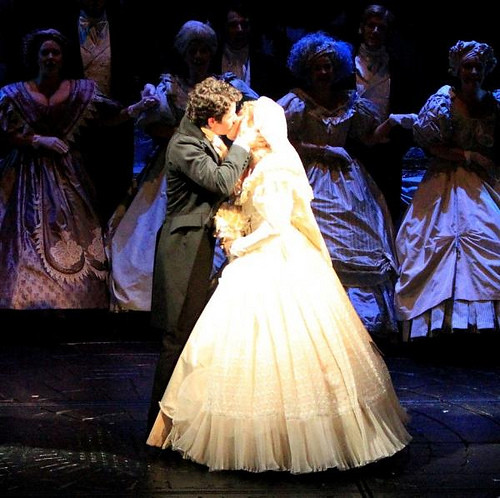 Nick Jonas Broadway Wedding Kiss ♥   I am SO jealous ...