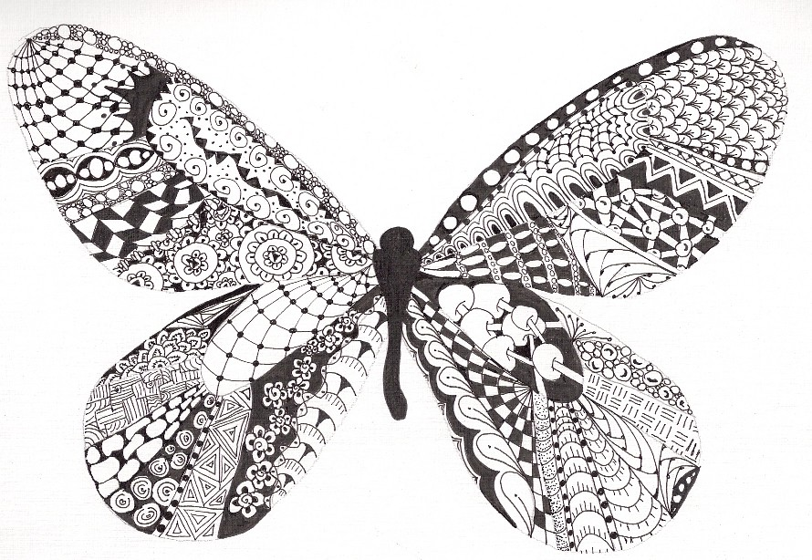 Tangled Butterfly For The Butterfly Project At The