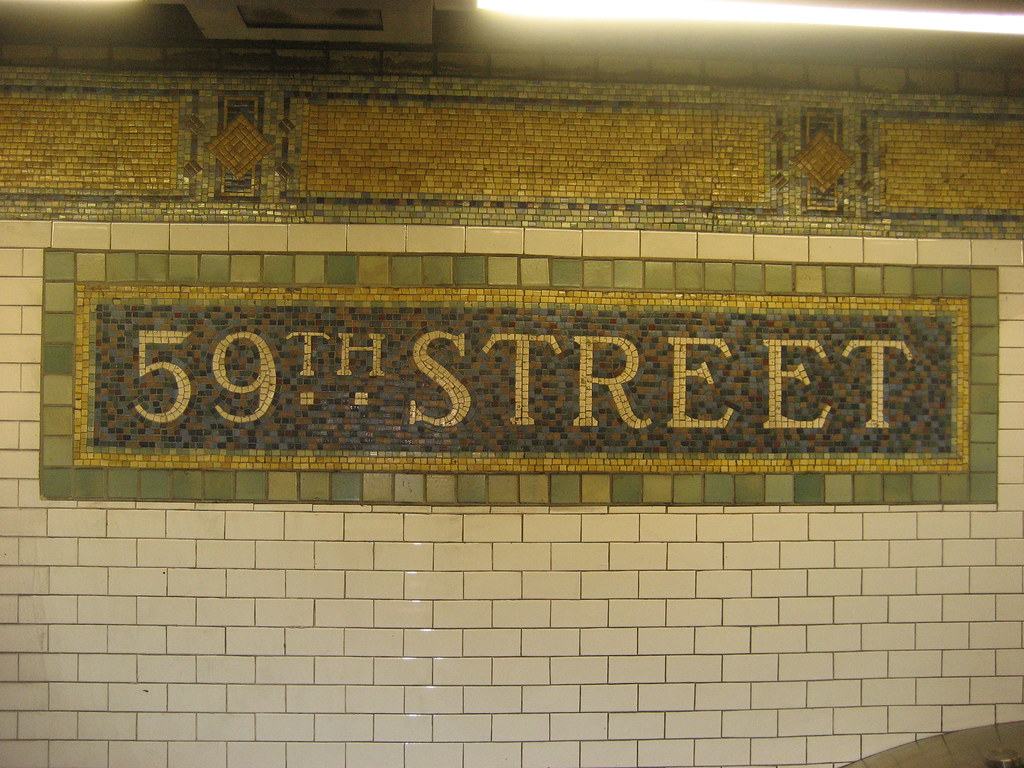 Nyc Lexington Avenue 59th Street Subway Station