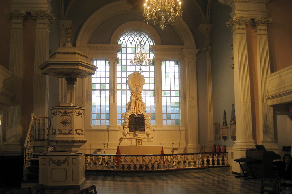Nyc St Pauls Chapel Altar The Ornamental Design Of