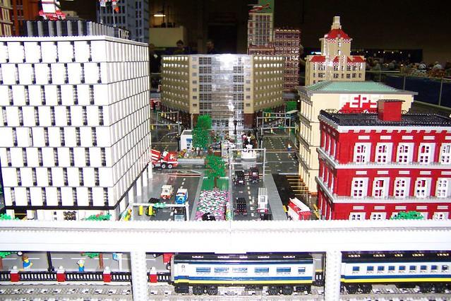 Lego Cityscape Detroit A Lego Scene Of Downtown
