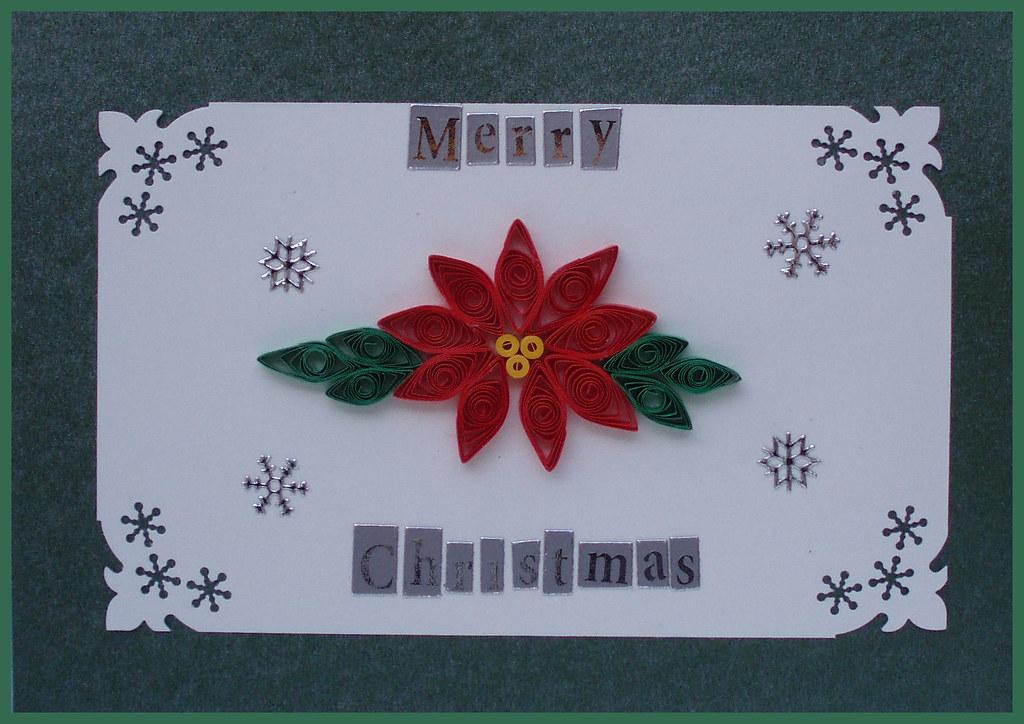 Handmade Christmas Card Handmade Poinsettia Christmas