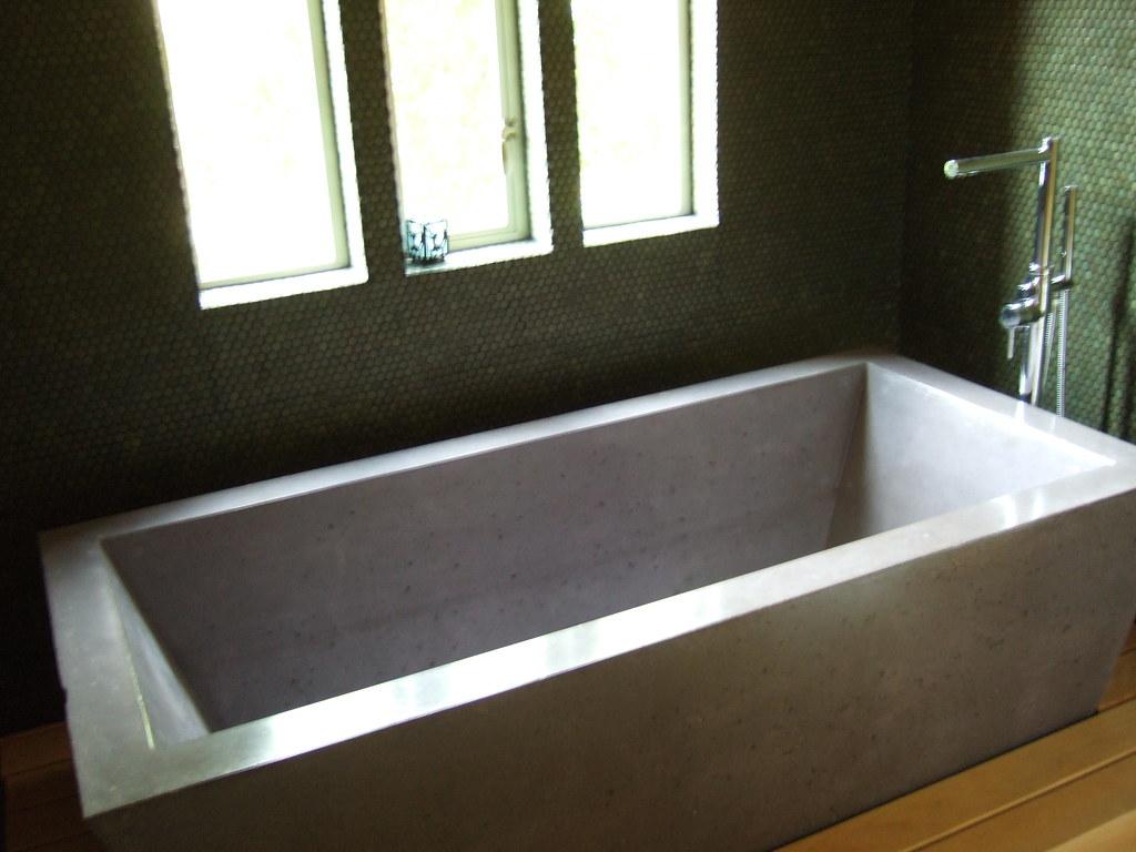 Concrete Bathtub This Concrete Bathtub At The Home We