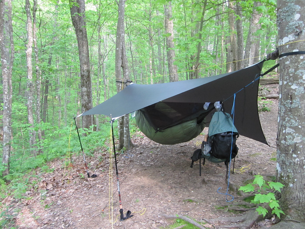 Hammock Setup With Diy Tarp Set Up