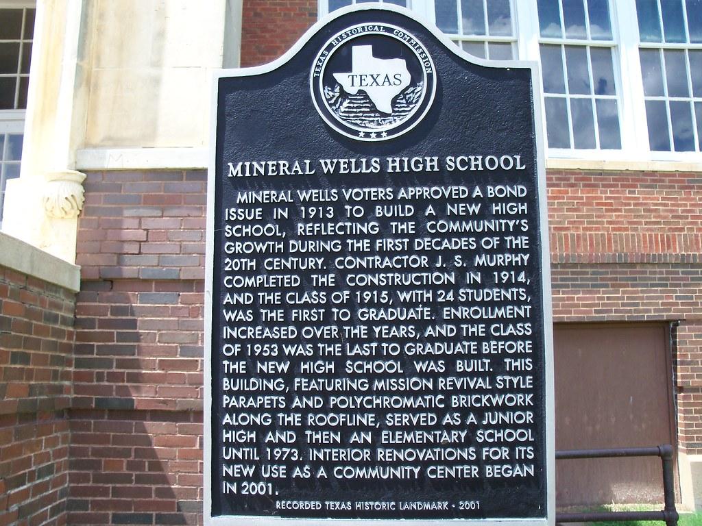 Mineral Wells High School Mineral Wells Texas Historical