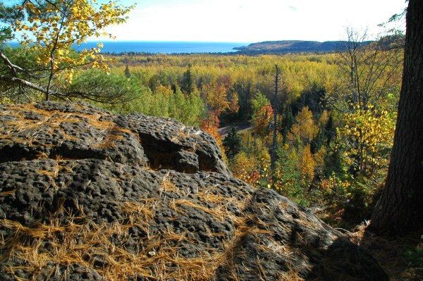 wolf rock | superior hiking trail castle danger, mn ...
