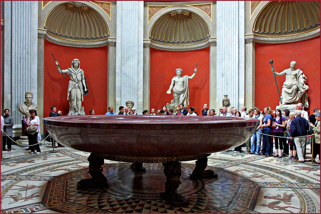 Emperor Neros Bathtub In The Round Room Of The Vatican Mu