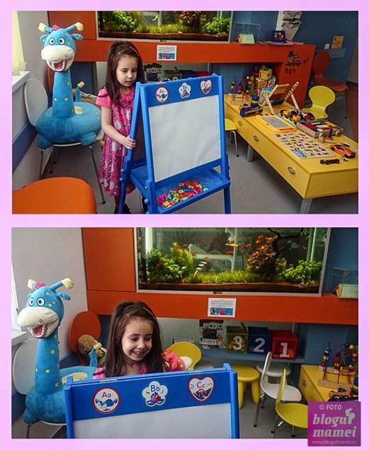 in vizita la clinica stomatologica pentru copii