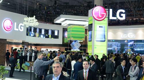 LG confirma el lanzamiento del G6, en el Mobile Word Congress en Fira Barcelona, Cataluña, España.