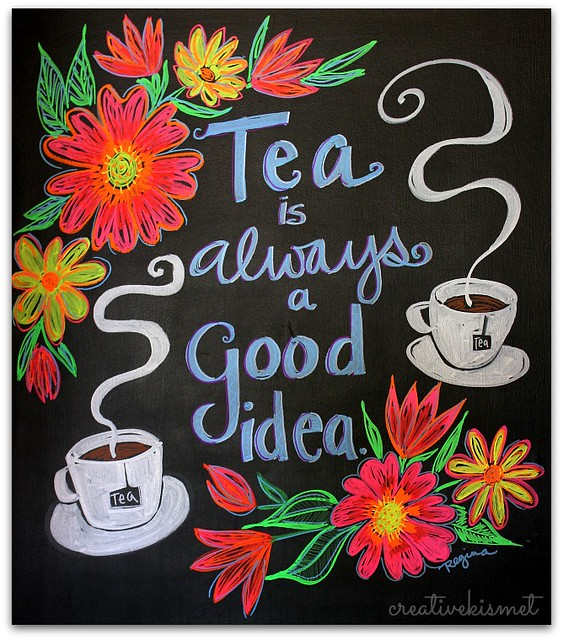 Chalk Board Art - ChalkOla Markers - Art by Regina Lord