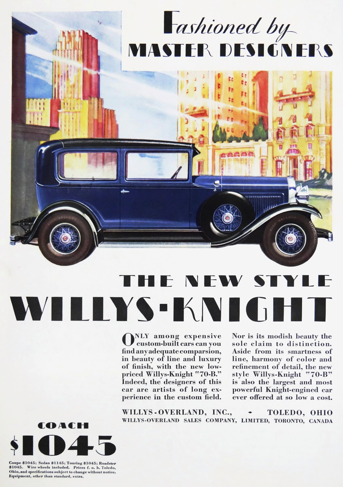 1929 Willys-Knight 70-B - published in May 1929