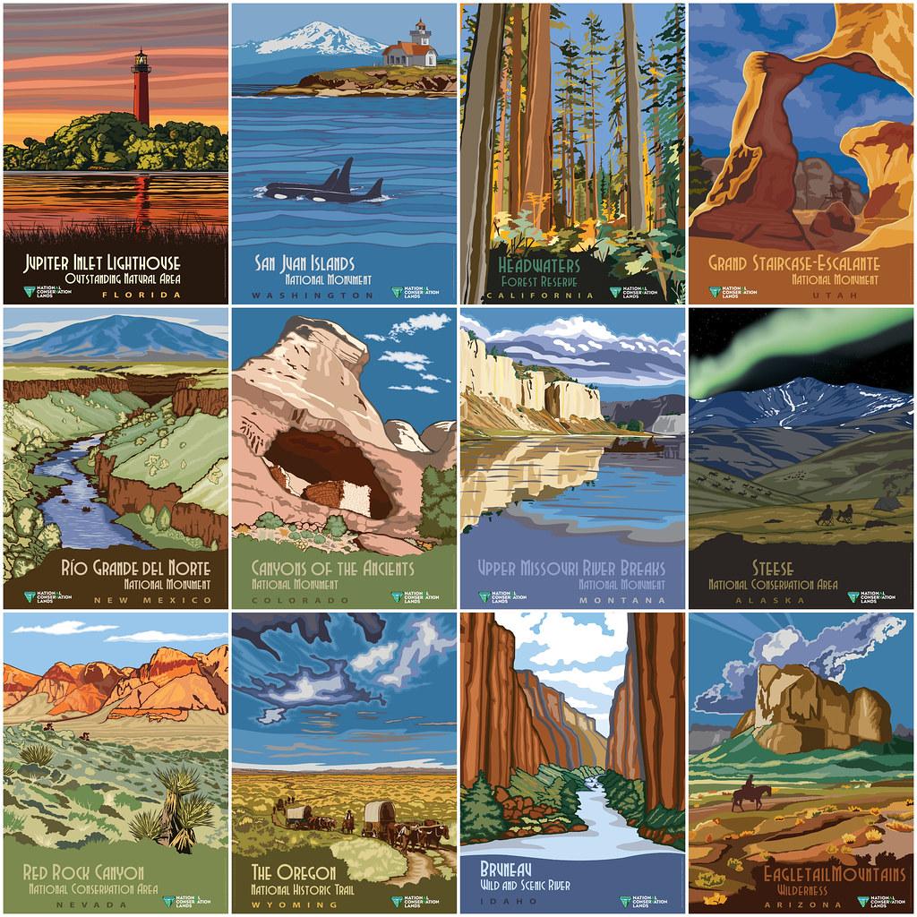 National Conservation Lands Vintage Poster Series The