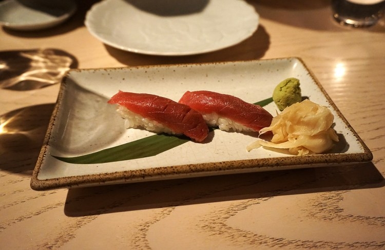 Tuna nigiri from Sake no Hana in Mayair, London | eating gluten free in London