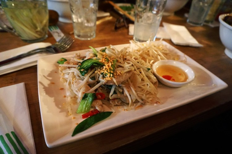 Gluten free chicken wok fried noodles from Pho