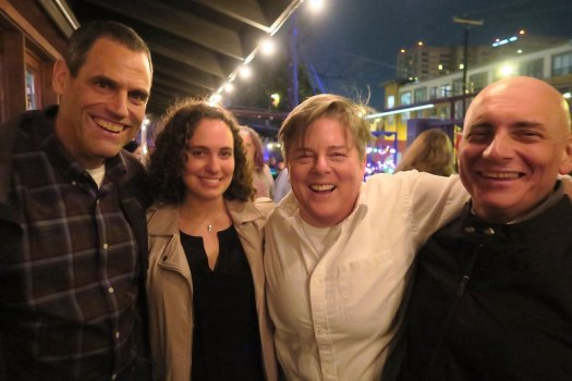 Peter, Lauren, AB, and Patrick at Cheer Up Charlie's