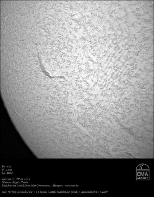 H-alpha Sun - Bognár Tamás - NAE