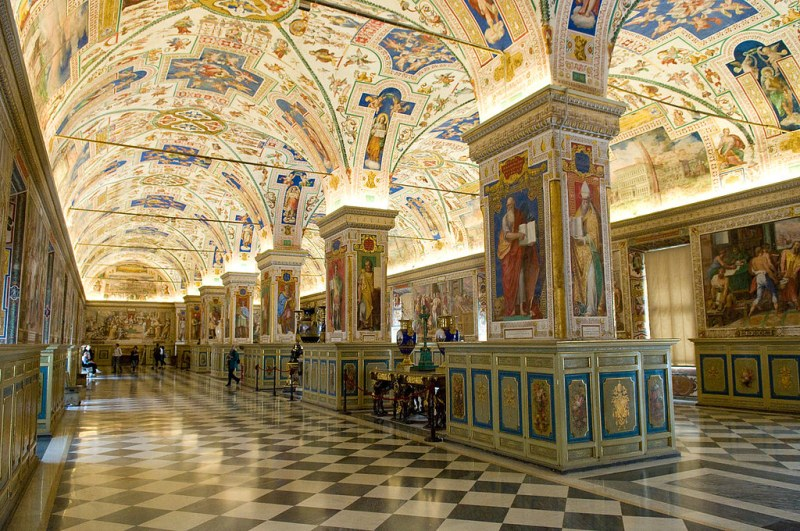 The Sistine Hall of the Vatican Library, Vatican City, Italy. Image credit russavia.