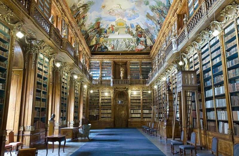 Strahov Library showing Baroque Cabinets, Prague, Czech Republic. Image credit Jorge Royan.