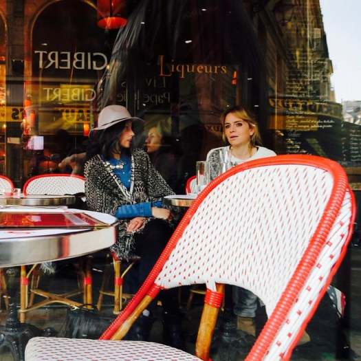 ladies at a cafe