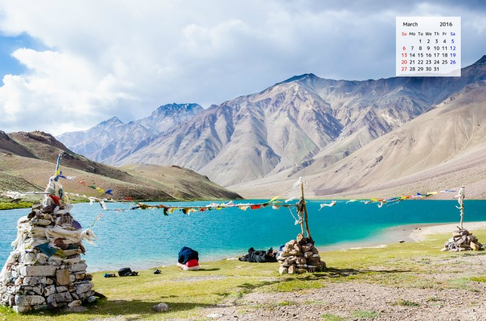 Desktop Calendar download Chandratal Spiti