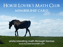 Horse Lover's Math Club Membership Card