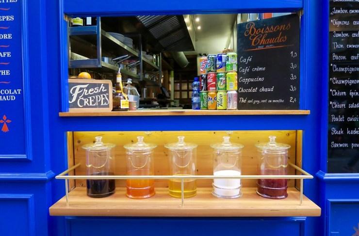colorful juice window