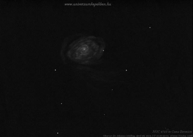Galaxy NGC 4725 in Coma Berenices - Dr. Johannes Schilling, Lonsee