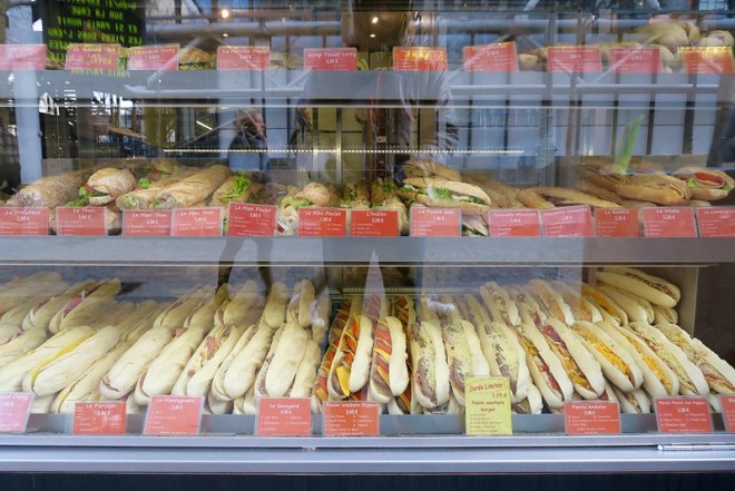 I lived off these lovely fresh baguette sandwiches