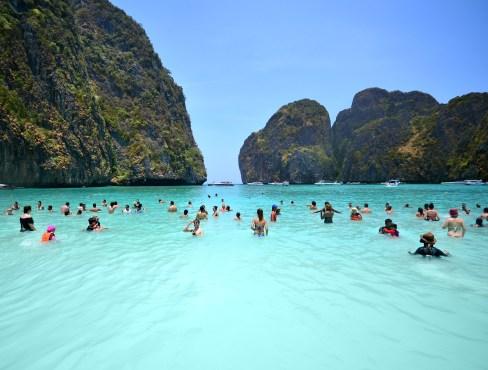 Resultado de imagen de playa maya bay tailandia