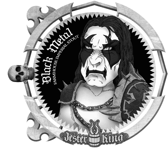 Jester King's Black Metal beer label