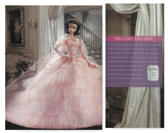 A two page spread that I consolidated here. Obviously that enormous pink gown was too big for a one page spread.