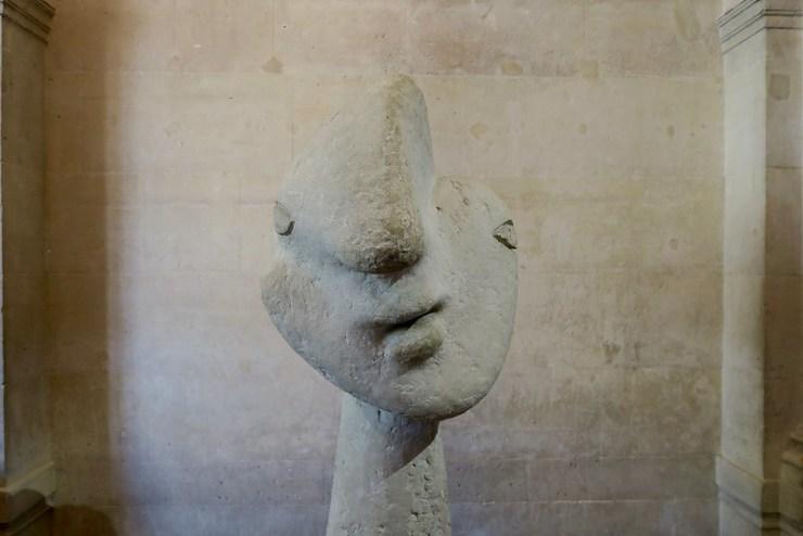 stone sculpture head